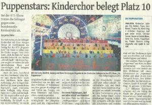 Presseartikel Puppenstars Finale ST